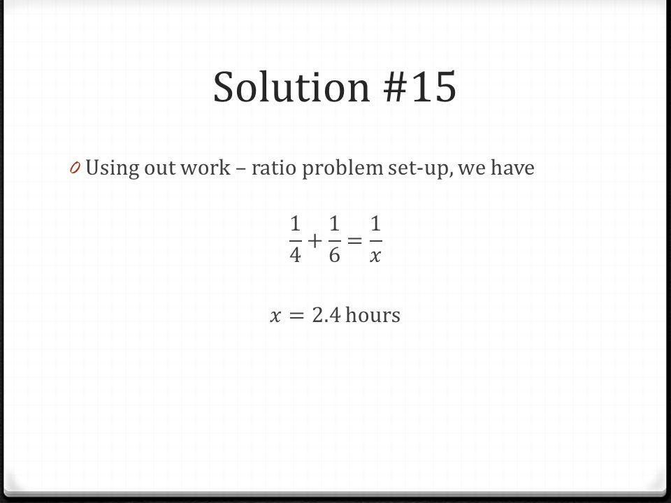 Solution #15