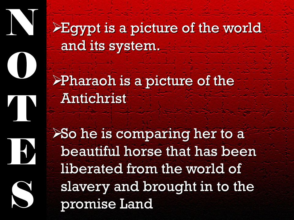  Egypt is a picture of the world and its system.