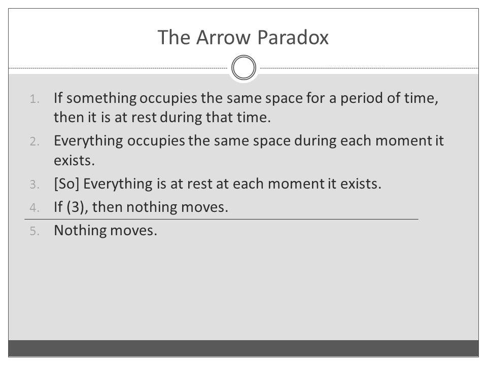The Arrow Paradox 1.