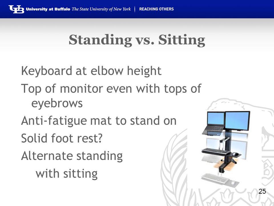 Standing vs.