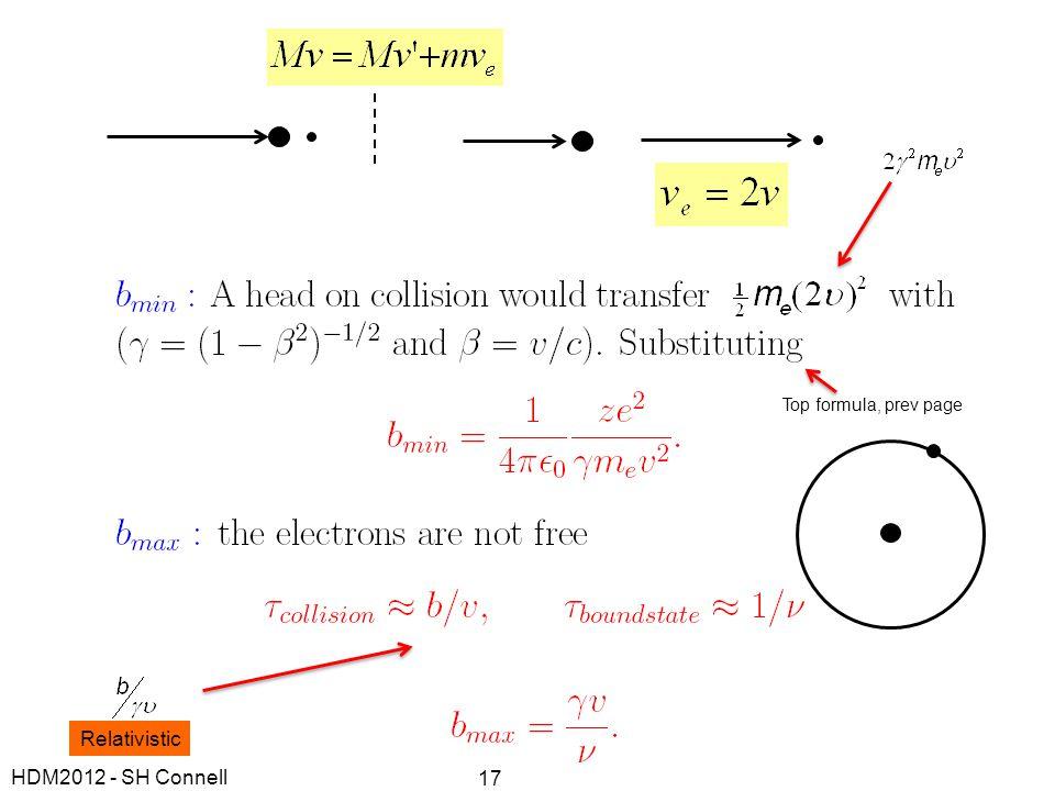 Relativistic Top formula, prev page HDM2012 - SH Connell 17