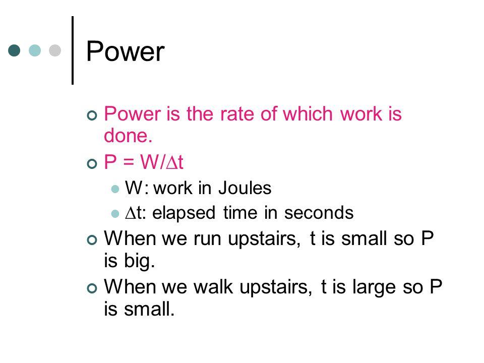 Law of Conservation of Mechanical Energy E = K + U = Constant K: Kinetic Energy (1/2 mv 2 ) U: Potential Energy (gravity or spring)  E =  U +  K = 0  K: Change in kinetic energy  U: Change in gravitational or spring potential energy