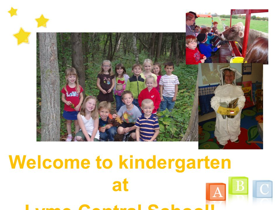 Welcome to kindergarten at Lyme Central School!