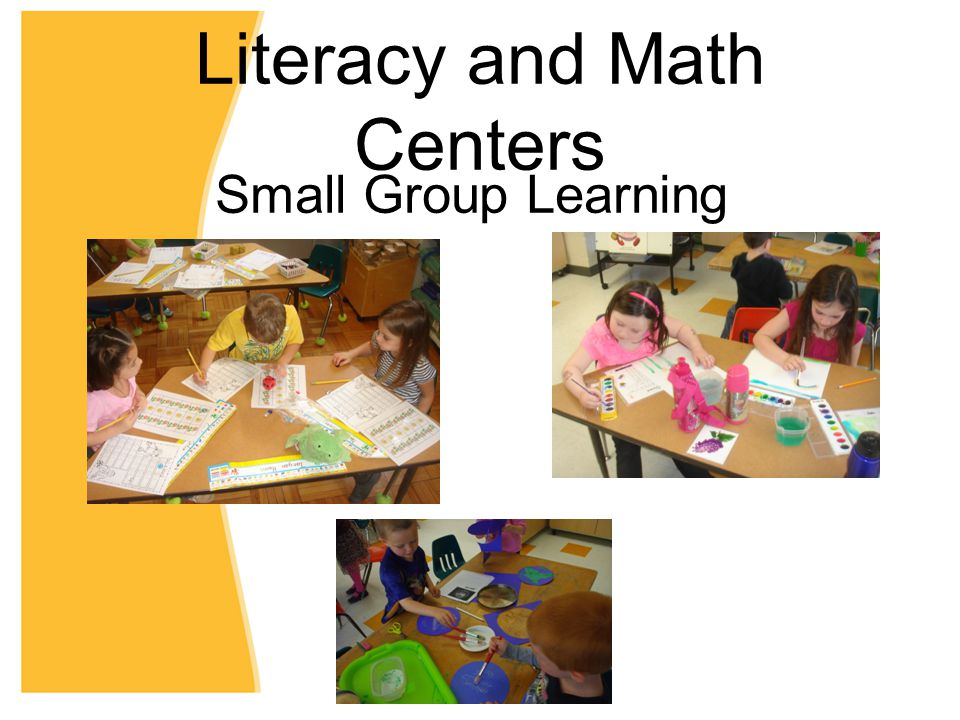 Literacy and Math Centers Small Group Learning