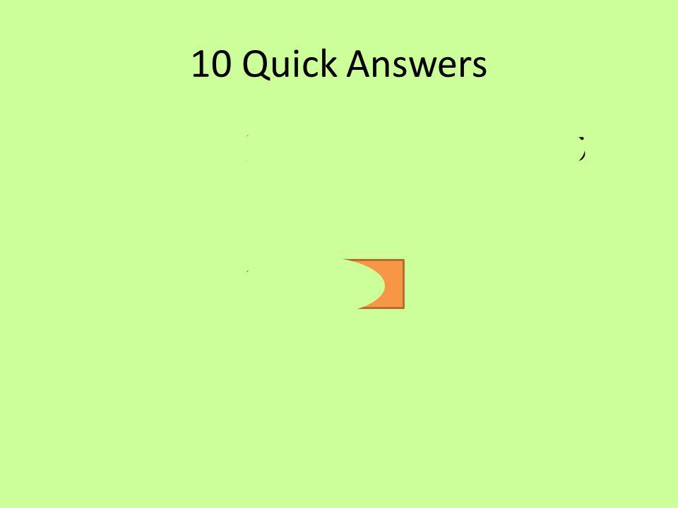 10 Quick Answers a)v= 11 b) s= 16 c) a= -1.5 d) s= 45 e) s= 102f) a= 1.2 g) t= 14 h) t= 2.5 i) v= 24 j) a= -26.7