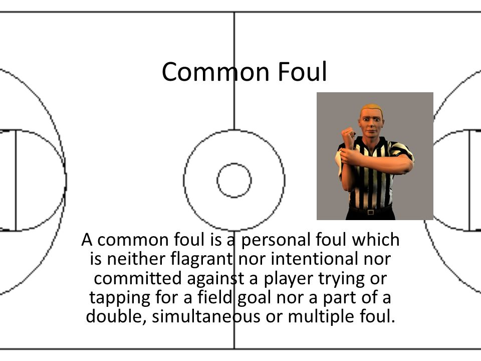 Common Foul A common foul is a personal foul which is neither flagrant nor intentional nor committed against a player trying or tapping for a field go