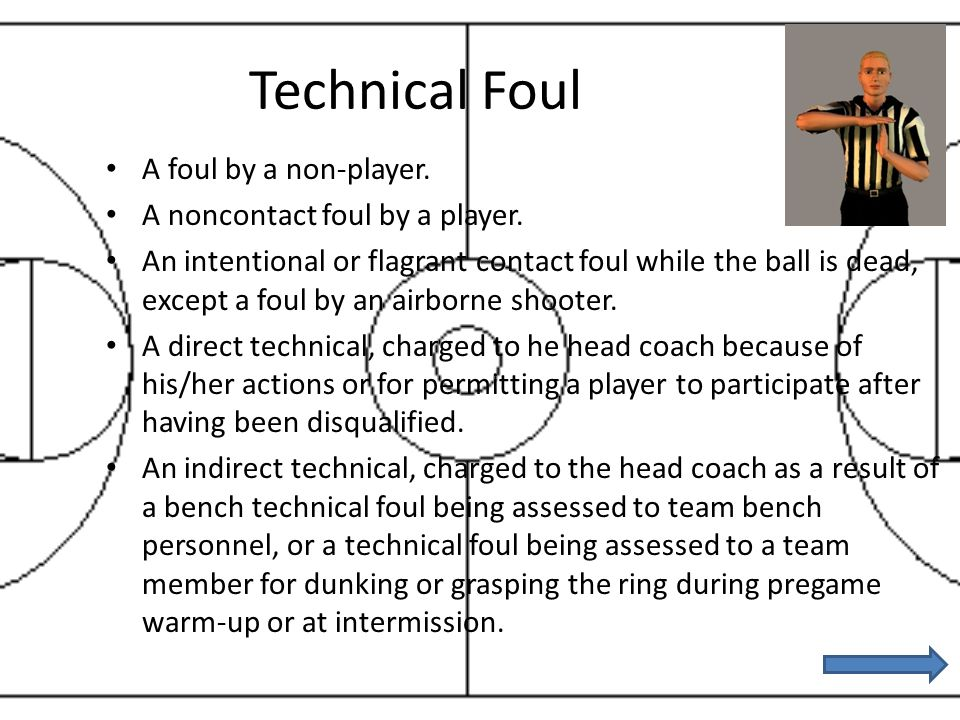 Technical Foul A foul by a non-player. A noncontact foul by a player. An intentional or flagrant contact foul while the ball is dead, except a foul by