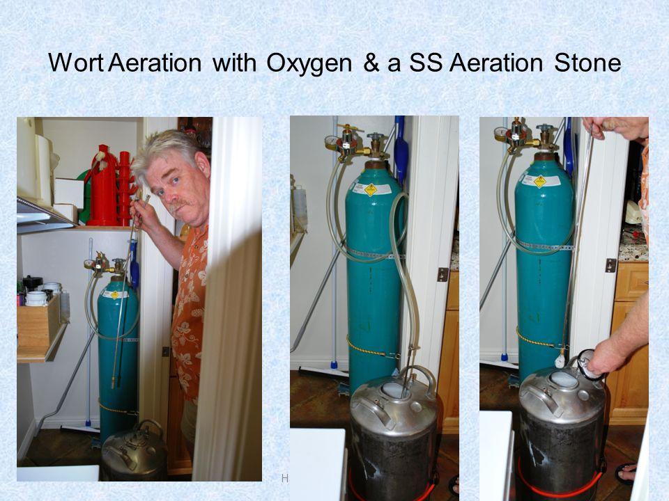 Wort Aeration with Oxygen & a SS Aeration Stone Harold J. Gulbransen