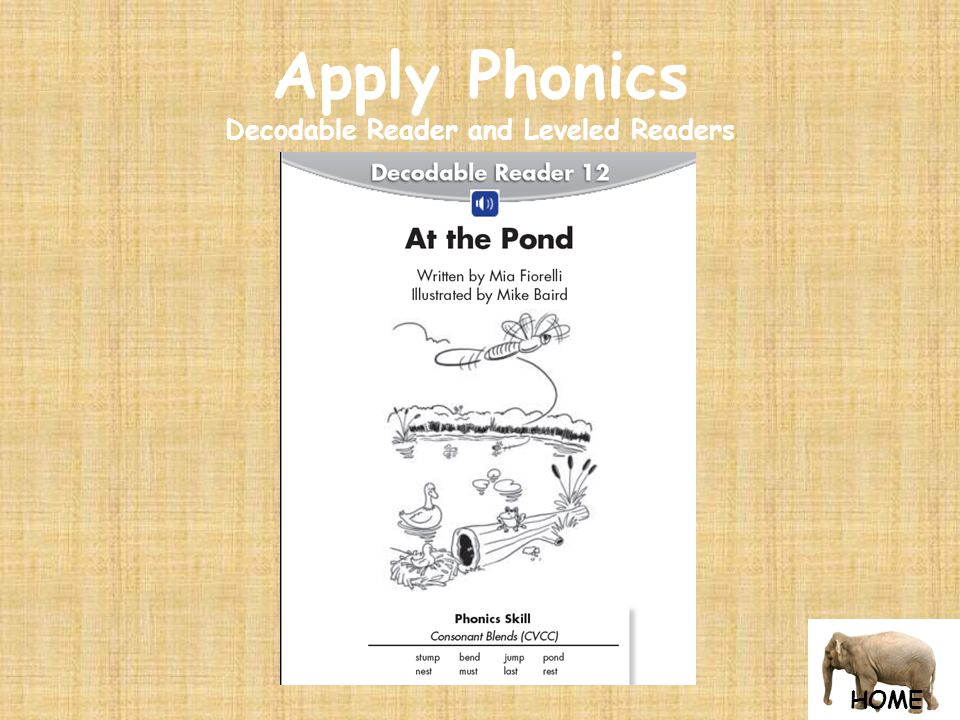 HOME Apply Phonics Decodable Reader and Leveled Readers