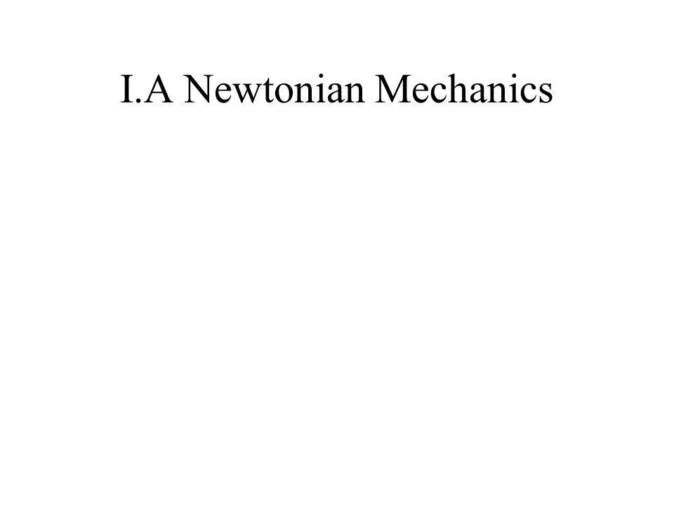 I.A Newtonian Mechanics