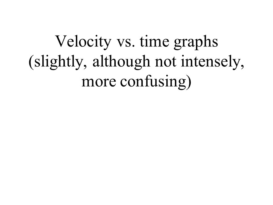 Velocity vs. time graphs (slightly, although not intensely, more confusing)
