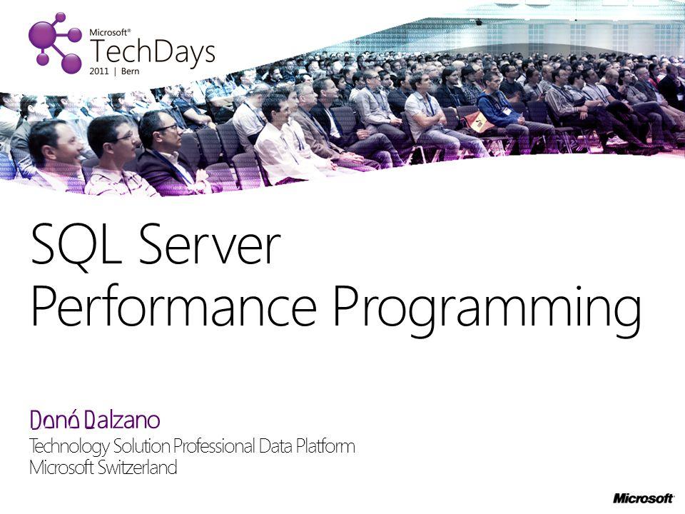 René Balzano Technology Solution Professional Data Platform Microsoft Switzerland SQL Server Performance Programming
