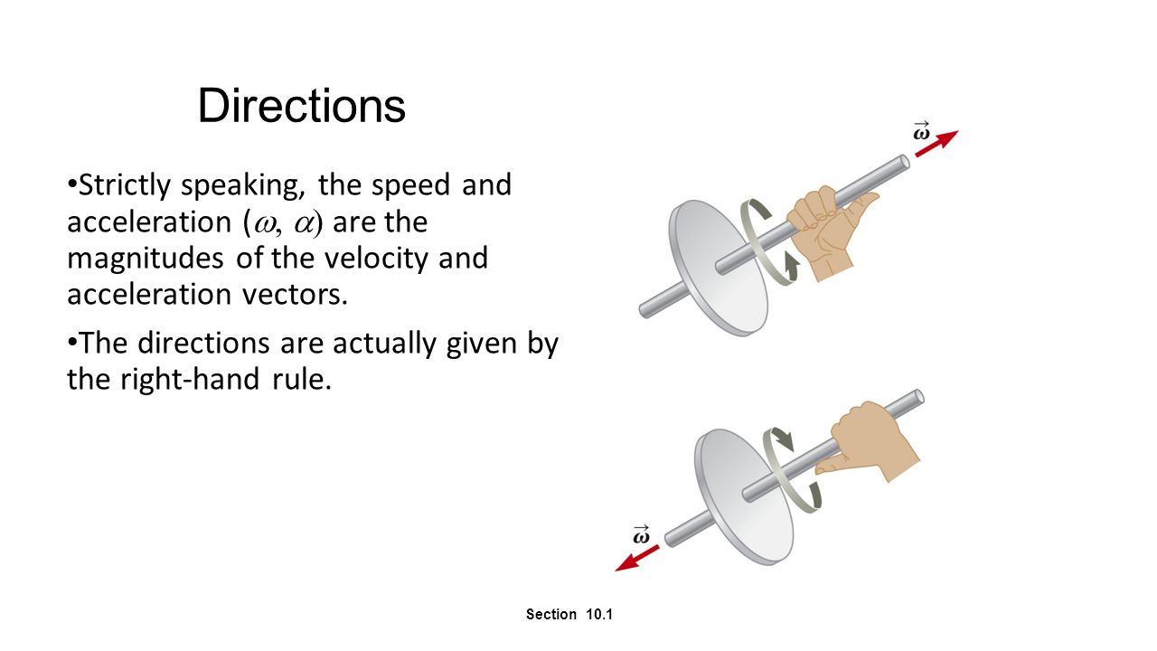 Torque Vector Example Given the force and location Find the torque produced Section 11.1