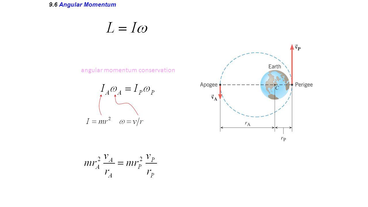 9.6 Angular Momentum angular momentum conservation