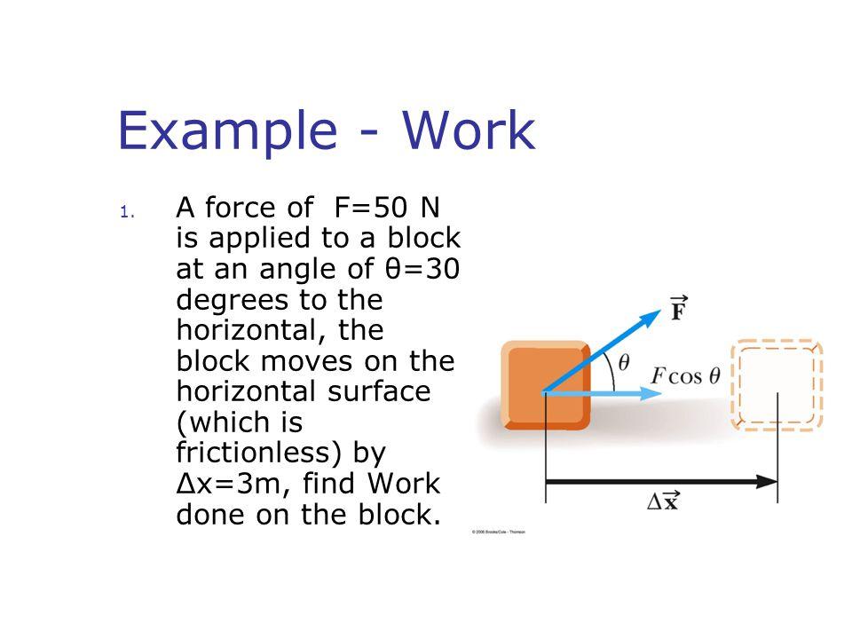 Example - Work 1.
