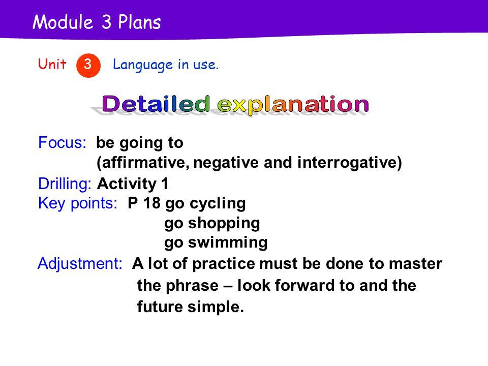 Module 3 Plans Unit 3 Language in use