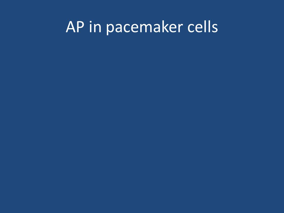 AP in pacemaker cells
