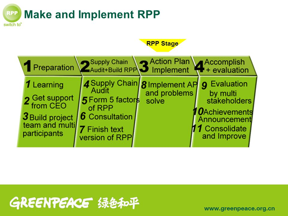RPP Stage Make and Implement RPP