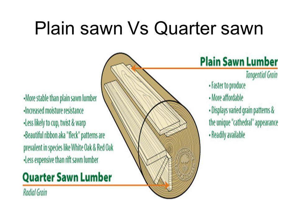 Plain sawn Vs Quarter sawn