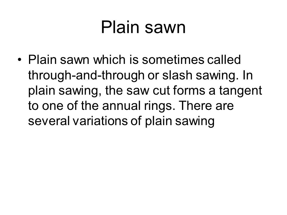 Picture of plain sawn