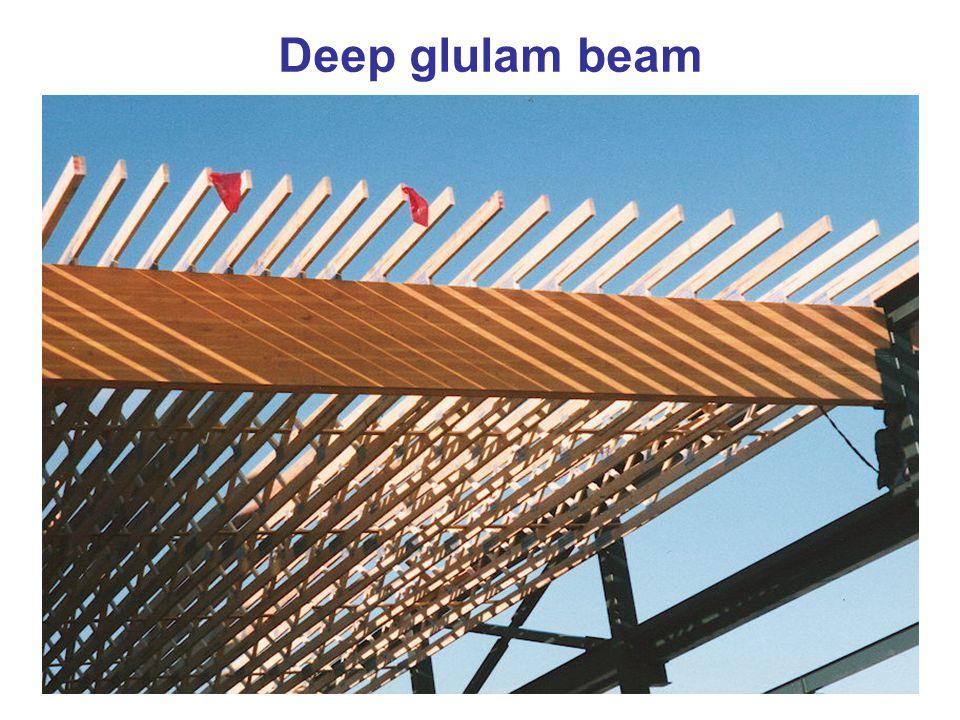 Deep glulam beam