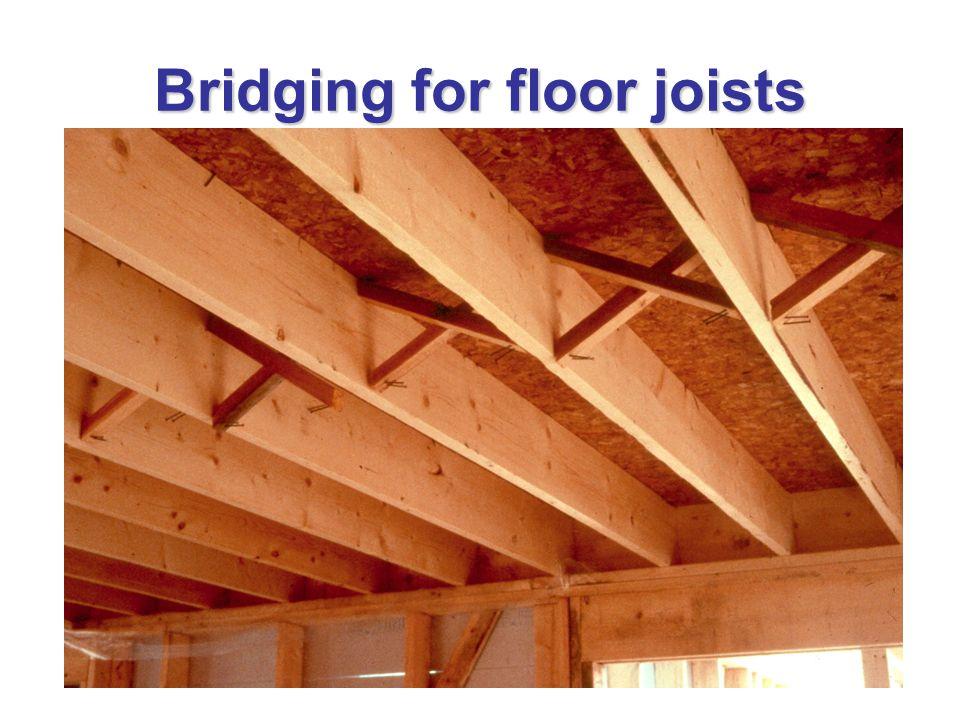 Bridging for floor joists