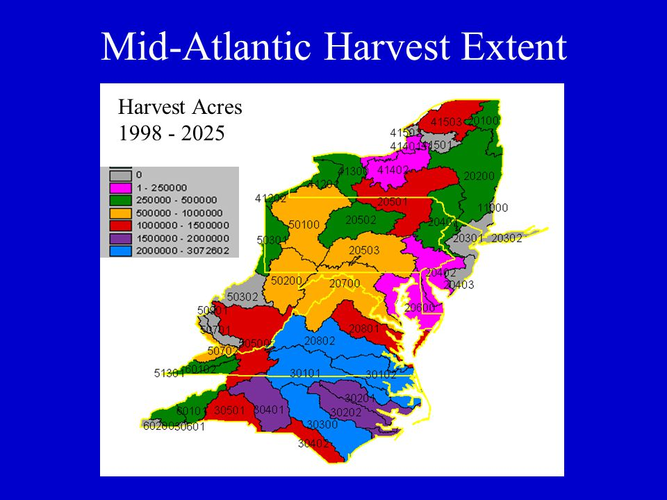Mid-Atlantic Harvest Extent Harvest Acres 1998 - 2025