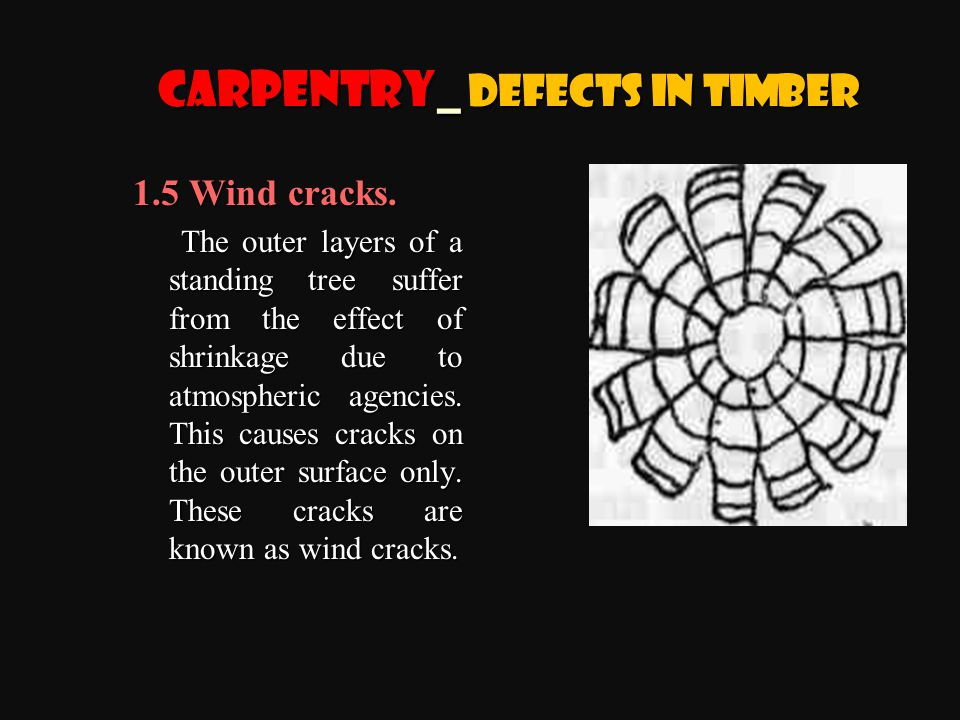 1.5 Wind cracks.