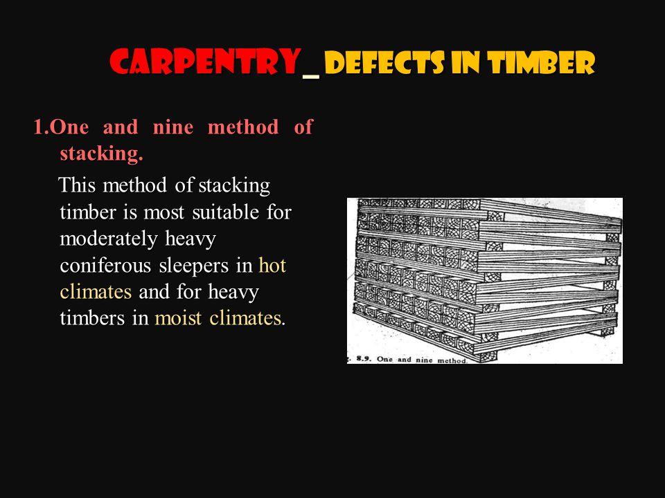 1.One and nine method of stacking.