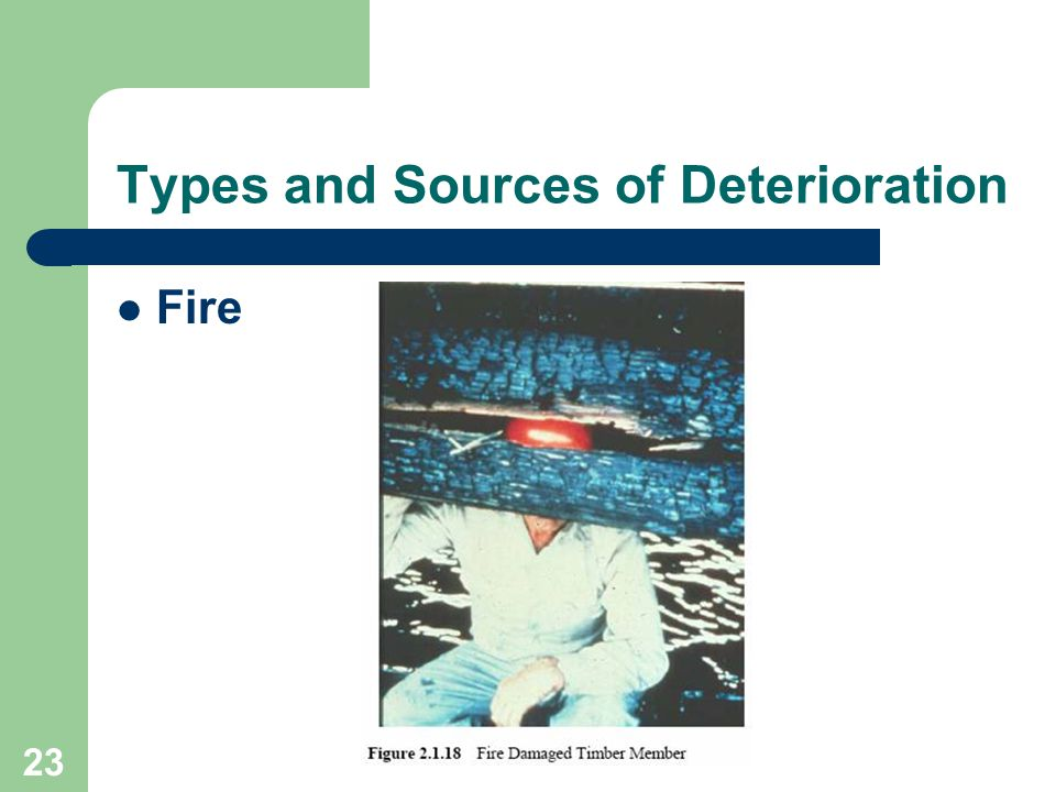 23 Types and Sources of Deterioration Fire