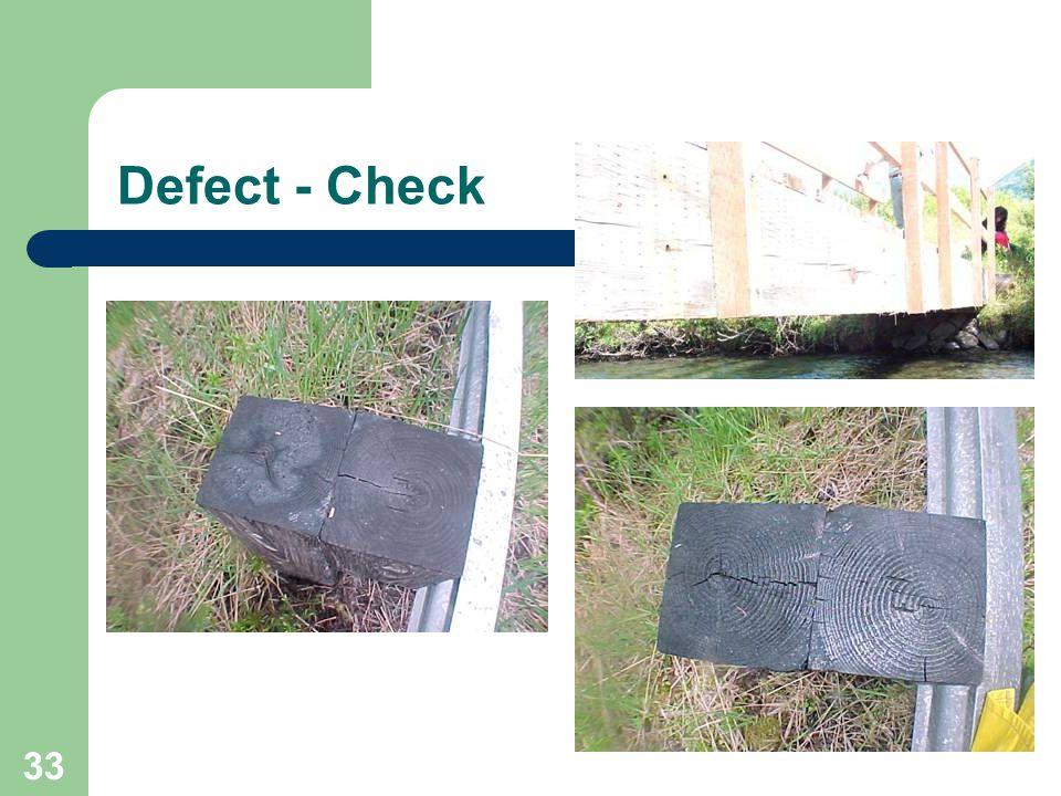33 Defect - Check