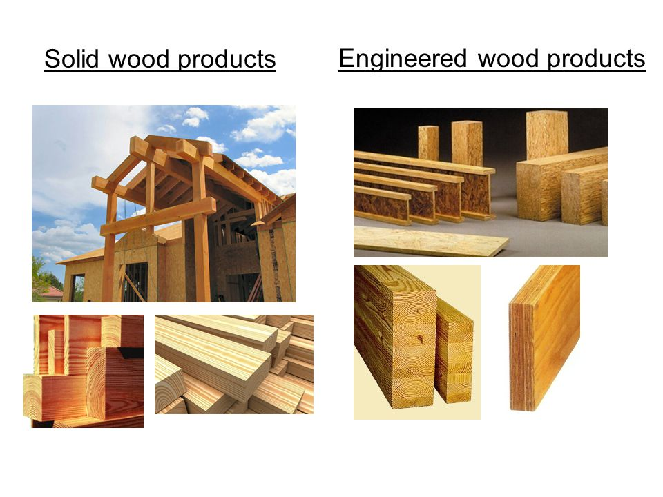 Laminated Veneer Lumber Elements:Sheets of wooden veneer (1/8-1/10 thick, 2' wide, 8' long) ProductWidth1½ - 3½ inches Dimensions:Depthup to 24 inches Lengthup to 80 feet Applications:Beams, headers, I -beam flange 14