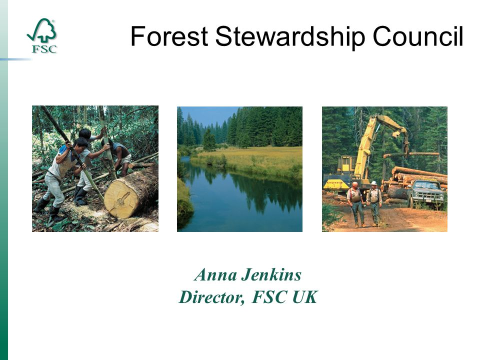 Anna Jenkins Director, FSC UK Forest Stewardship Council