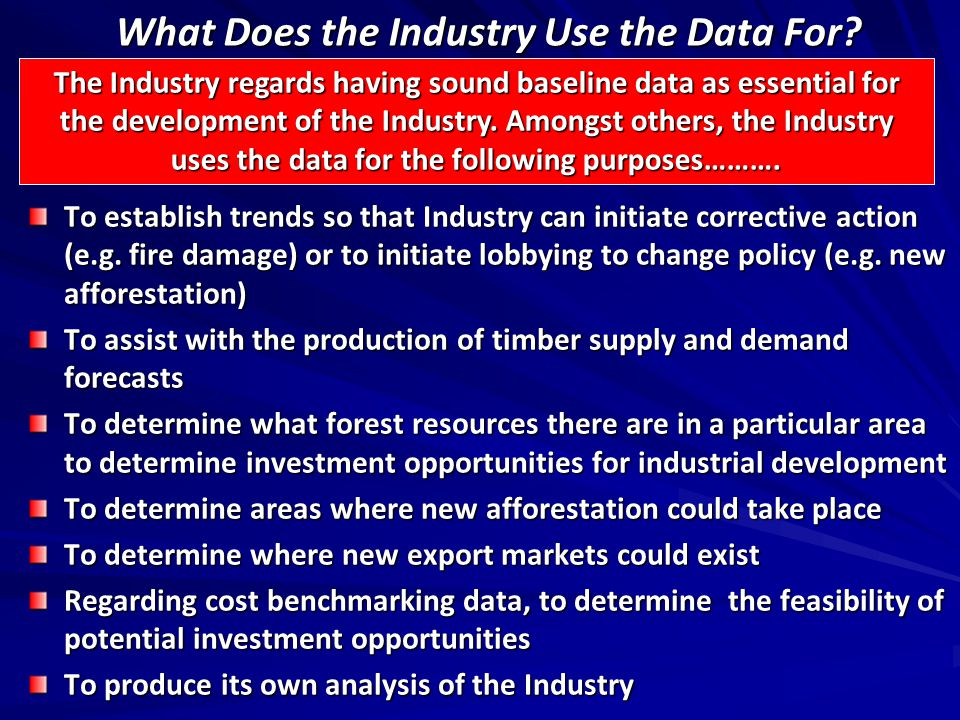 What Does the Industry Use the Data For.