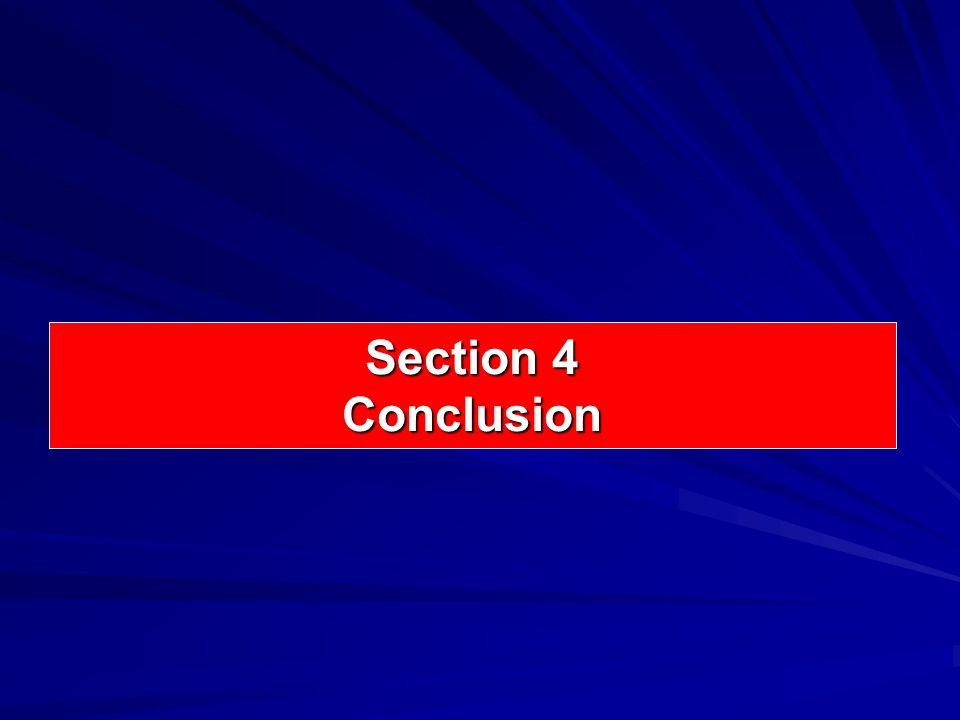 Section 4 Conclusion