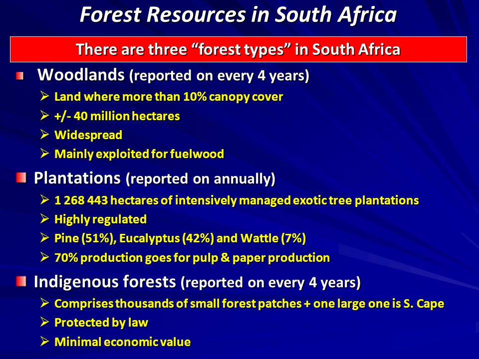 Data Content (3) Commercial Timber Resources and Primary Roundwood Processing Report Number of primary processing plants by:  Type  Intake  Investment (book value) Intake per region by:  Product  Species Production and sales of forest products from primary processing plants by:  Product  Value Primary Processing