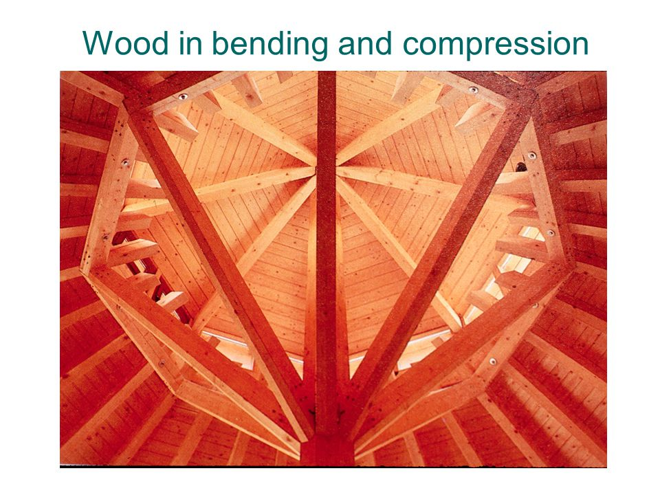 Wood in bending and compression