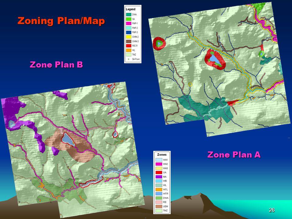 26 Zoning Plan/Map Zone Plan A 26 Zone Plan B