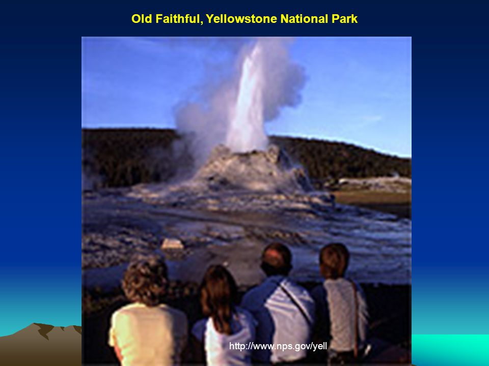 http://www.nps.gov/yell Old Faithful, Yellowstone National Park