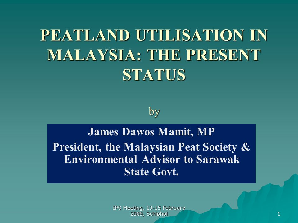 12 Impact of Peatland Development ….