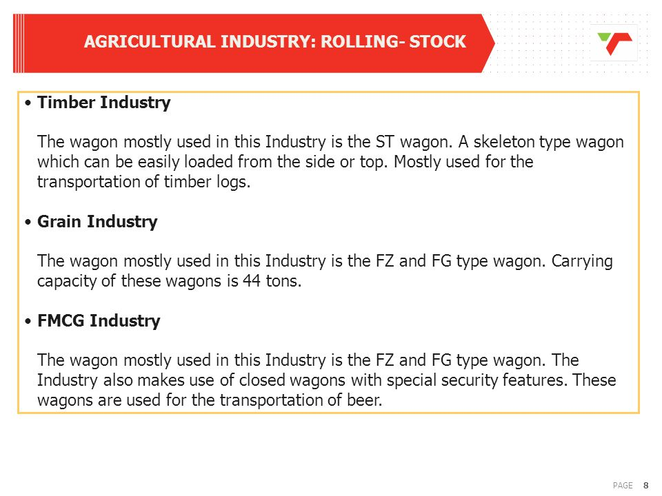 9PAGE GRAIN INDUSTRY: ROLLING - STOCK Average Fleet Sizes for past 6 years