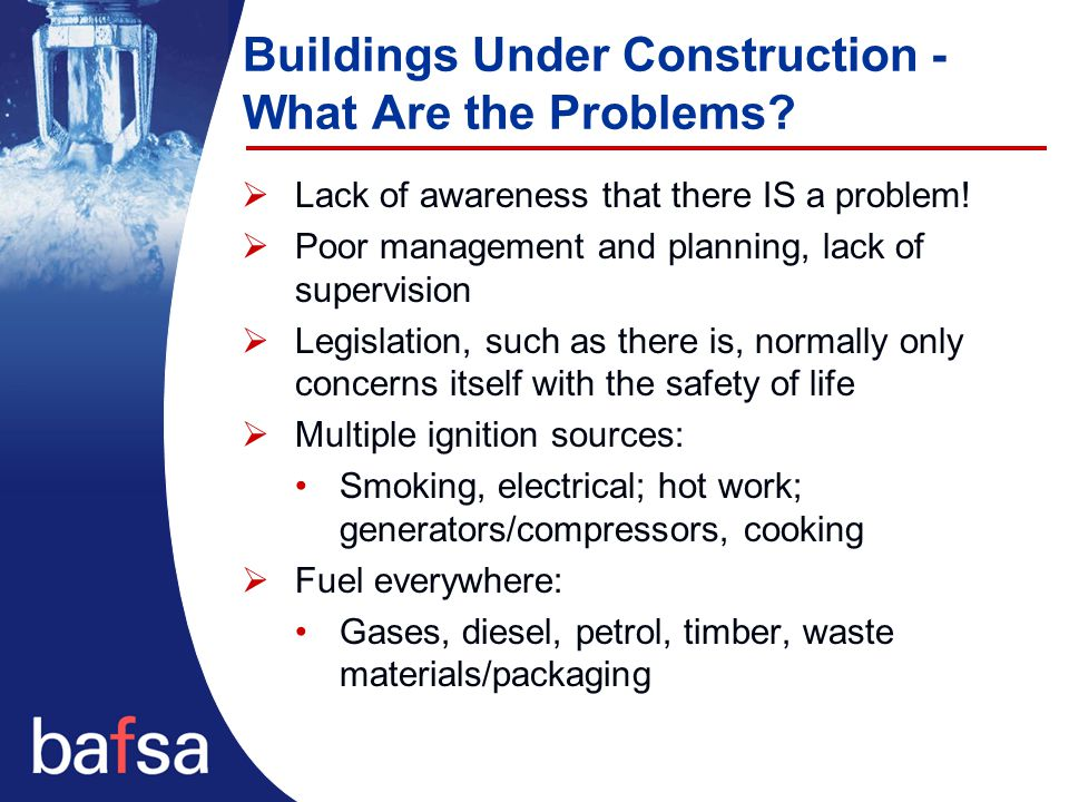 Buildings Under Construction - What Are the Problems.