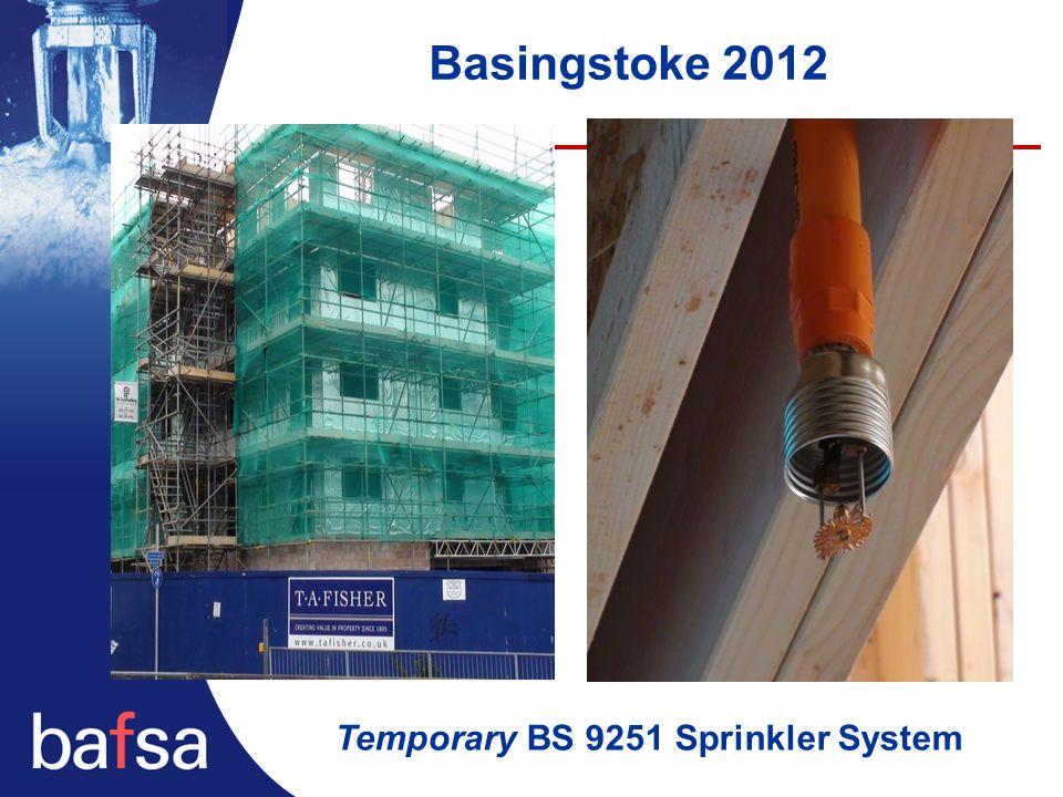 Basingstoke 2012 Temporary BS 9251 Sprinkler System