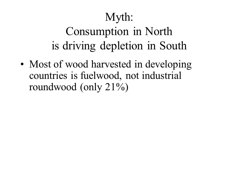 Most of wood harvested in developing countries is fuelwood, not industrial roundwood (only 21%)