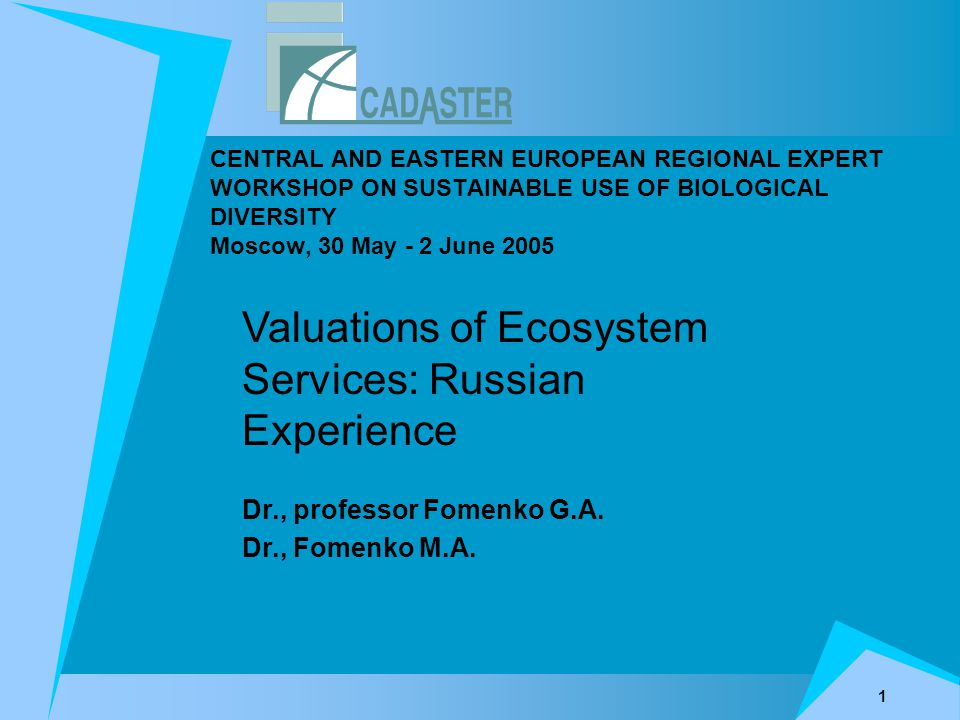 12 Recreation Economic valuation of the Recreational Services