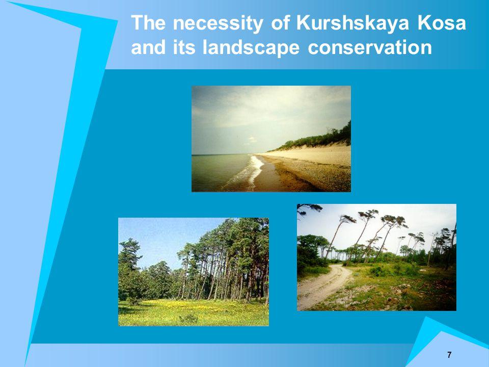 7 The necessity of Kurshskaya Kosa and its landscape conservation