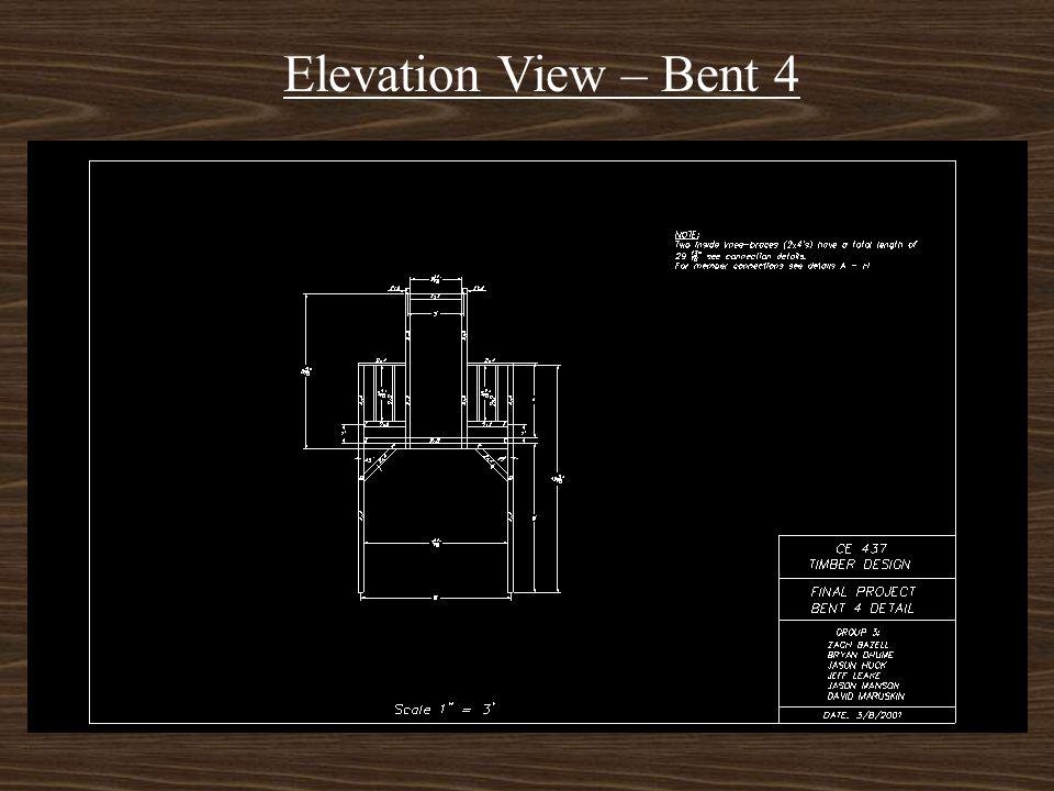 Elevation View – Bent 3