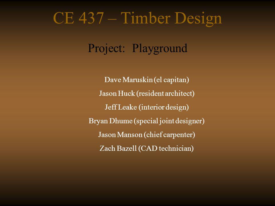 CE 437 – Timber Design