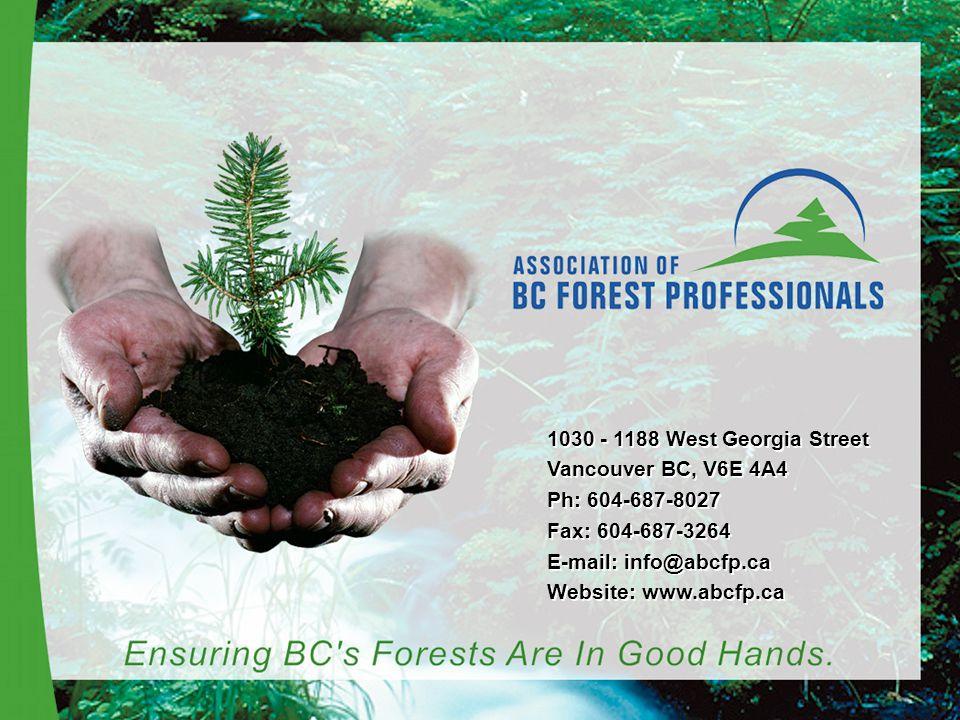 1030 - 1188 West Georgia Street Vancouver BC, V6E 4A4 Ph: 604-687-8027 Fax: 604-687-3264 E-mail: info@abcfp.ca Website: www.abcfp.ca 1030 - 1188 West