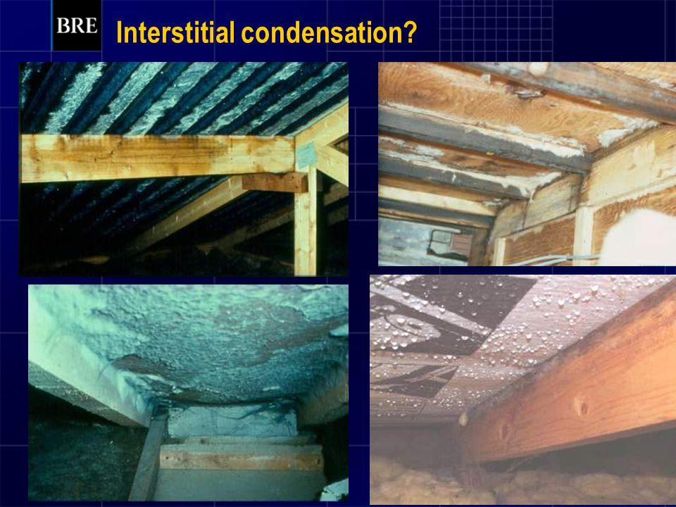 Interstitial condensation?